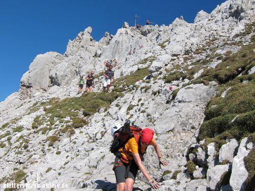 Klettersteig Ellmauer Halt : Klettersteig ellmauer halt m tour